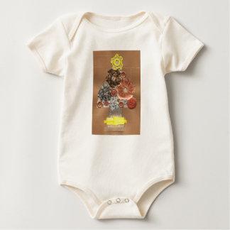Body Arbre de Noël de Steampunk Babygro organique