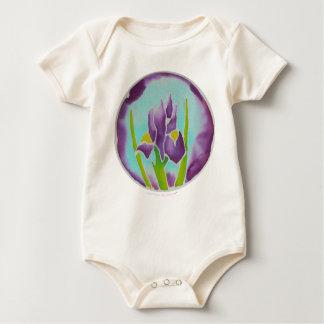 Body Art pourpre de batik de fleur d'iris