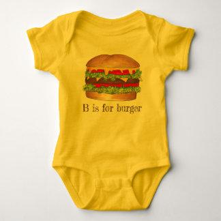 Body B est pour le cheeseburger d'hamburger de la