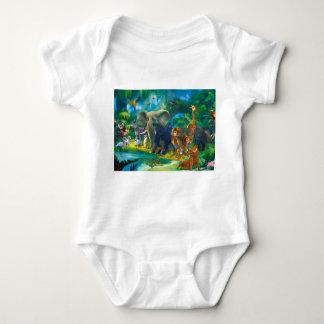 Body bébé animaux de la jungle