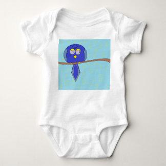 Body bébé bleu d'oiseau de bande dessinée