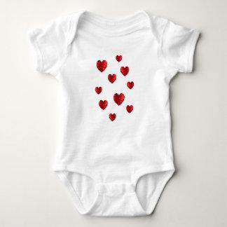 Body Bébé chaleureux de coeur de coeurs
