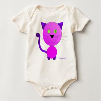 Body bébé chat rose violet animal de chiaradeco