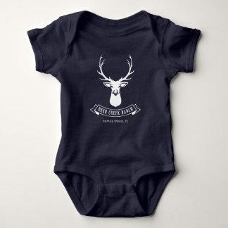 Body Bébé de ranch de crique de cerfs communs (marine)