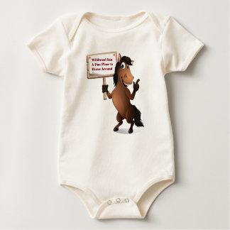 Body Bébé drôle Onsie de cheval