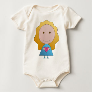 Body bébé fille coeur rose et bleue de chiaradeco