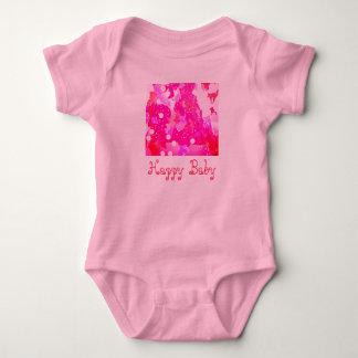 Body Bébé heureux dans le rose