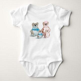 Body bébé mignon d'ours de famille, gilet de bébé