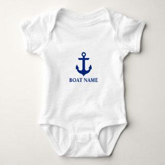Body Bébé nautique d'ancre de nom de bateau