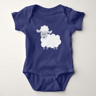 Body Bébé pelucheux mignon d'agneau