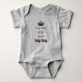 Body Bébé vrai de la couronne Dilly Dilly