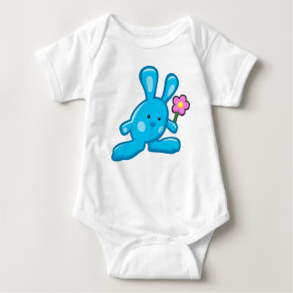Body blanc bébé - Lapin Bleu