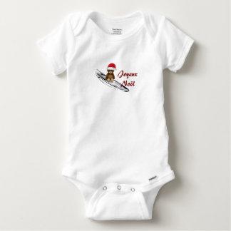 Body blanc bébé Nounours, surf et Noël