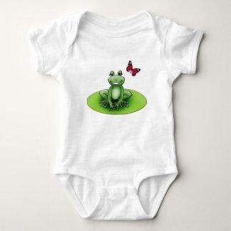 "Body blanc ""Froggy la grenouille"""
