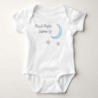 Body Bonne lune bleue de nuit (le nom du bébé) et rêve