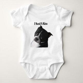 Body Boston Terrier :  J'ai besoin d'un baiser