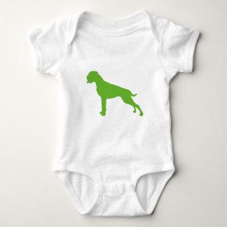 Body Boxeur chien vert