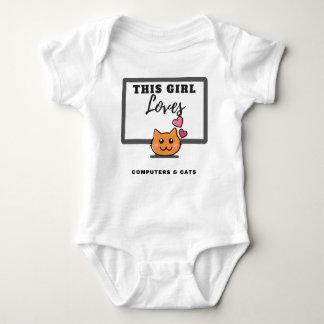 Body Cette fille aime la combinaison de bébé