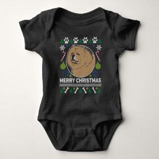 Body Chandail laid de Noël de race de chien de bouffe