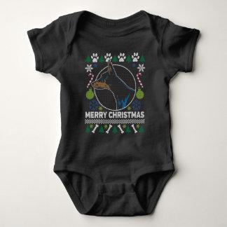 Body Chandail laid de Noël de race de chien de Pinscher