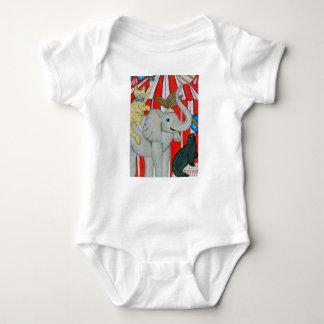 Body Chat dans l'onsie de bébé de cirque