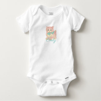 Body Chaton rose vintage/rétro Personnalised