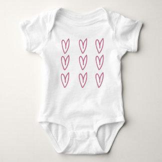 Body Chemise de bébé avec des coeurs