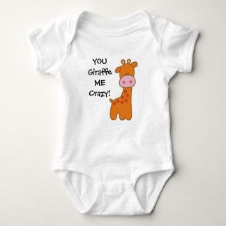 Body Chemise de bébé de girafe