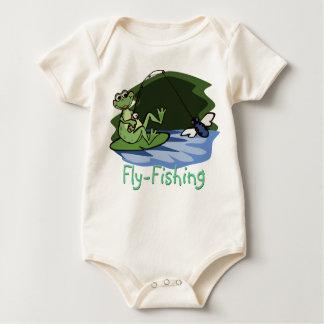 Body Chemise de bébé de grenouille de pêche de mouche