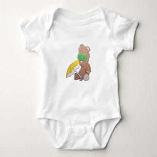 Body Chemise de bébé de nounours de jour pluvieux