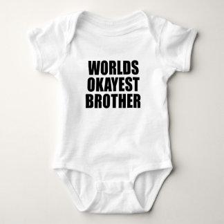 Body Chemise de bébé d'Okayest des mondes/petit frère