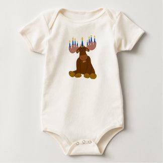 Body Chemise de bébé d'orignaux de Hanoukka