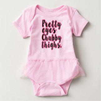 Body Chemise drôle de bébé de jolies cuisses potelées