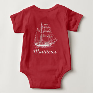 Body Chemise nautique de bébé de bateau de bateau de
