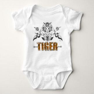 Body Chemise vintage de bébé d'impression de tigre de