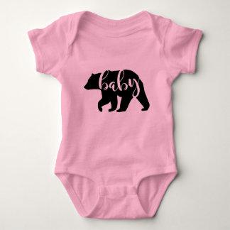 Body Chemises assorties de famille d'ours rose de bébé