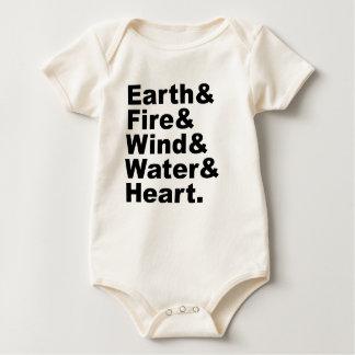 Body Cinq l'eau et coeur de vent du feu de la terre des