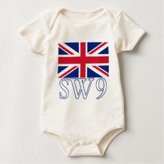Body Code postal SW9 de Londres avec Union Jack