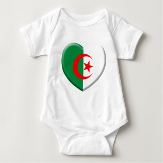 Body Coeur drapeau Algérie love