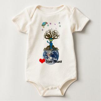 Body Coeur votre planète ! Signe de paix étranger