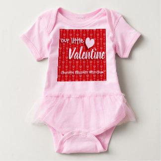 Body Coeurs roses rouges de combinaison de bébé de