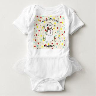 Body Combinaison adorable de bébé de bonhomme de neige