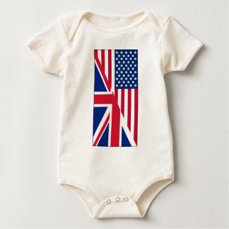 Body Combinaison d'Américain et de bébé de drapeau