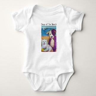 Body Combinaison de bébé avec deux chienchiens mignons
