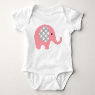Body Combinaison de bébé avec Elehant rose