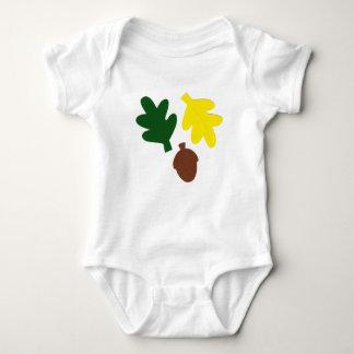 Body Combinaison de bébé avec le feuille et le gland de