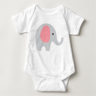 Body Combinaison de bébé avec l'éléphant gris et les