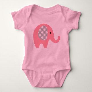 Body Combinaison de bébé avec l'éléphant rose/oreilles