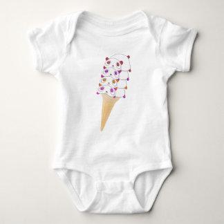 Body Combinaison de bébé de cornet de crème glacée de