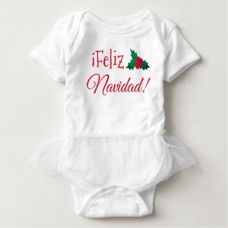 "Body Combinaison de bébé de tutu de ""Feliz Navidad"""